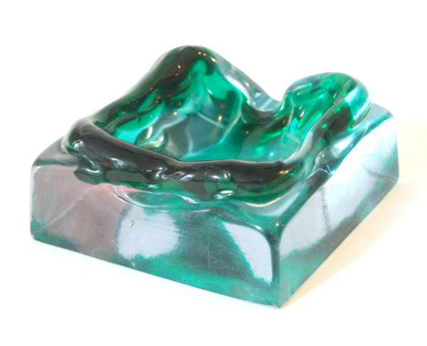 vide poche cristal turquoise lucinevintage