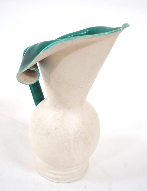 vase pichet blanc et canard lucinevintage