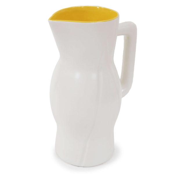 grand vase cruche intérieur jaune lucinevintage