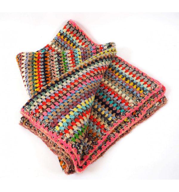 plaid crochet fluo vintage