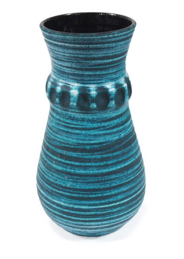vase noir bleu accolay lucinevintage