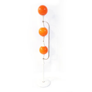 lampadaire opalines boules oranges lucinevintage