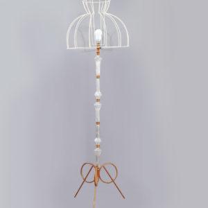 lampadaire cocotte cristal et laiton lucinevintage