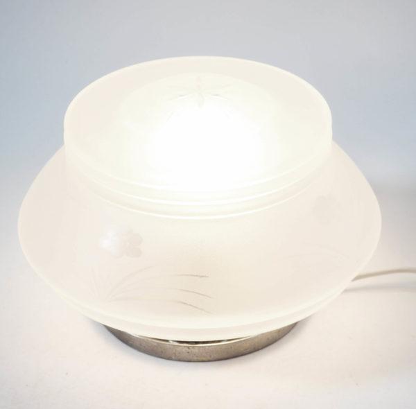 lampe applique satinée ciselée années 30 lucinevintage