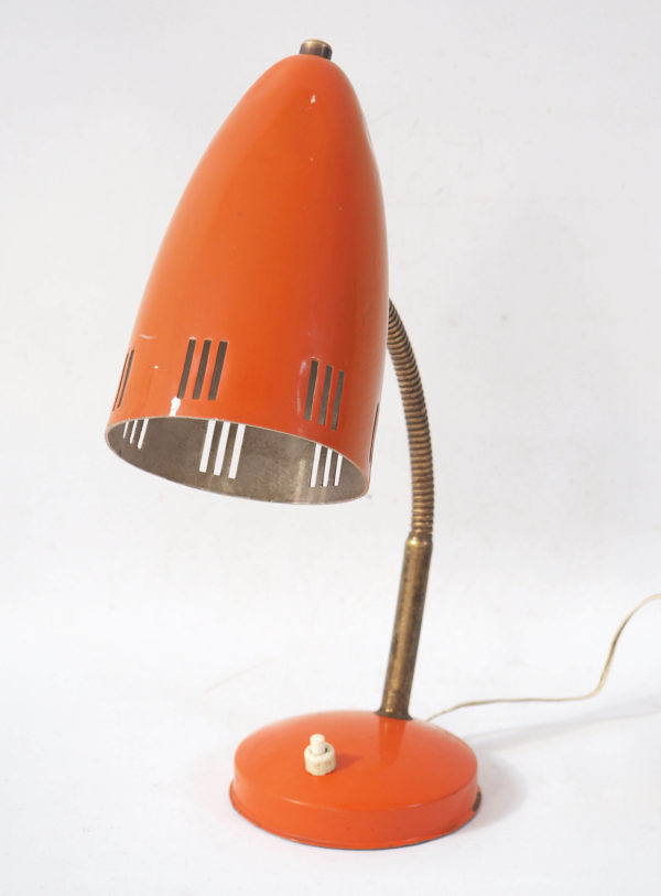 lampe orange années 60 lucinevintage