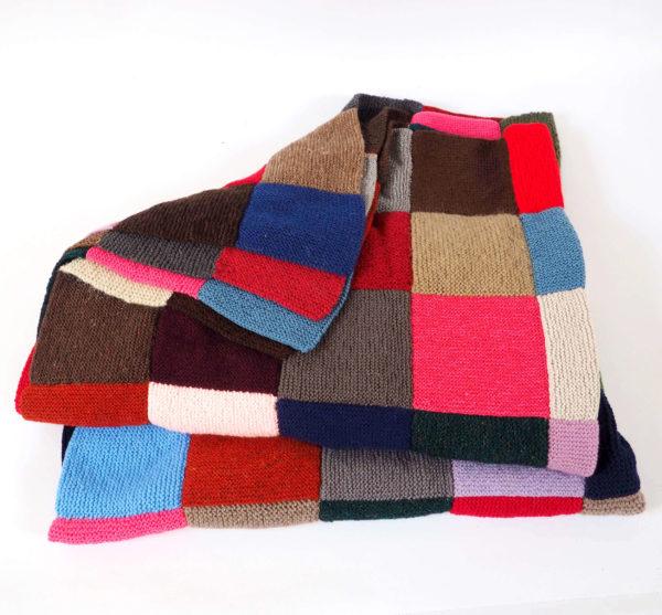 plaid laine carrés vintage