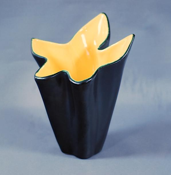 vase érable céramique noir vallauris