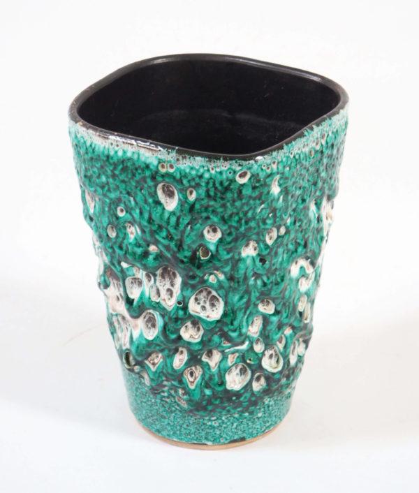 céramique mousse bleu vert lucinevintage
