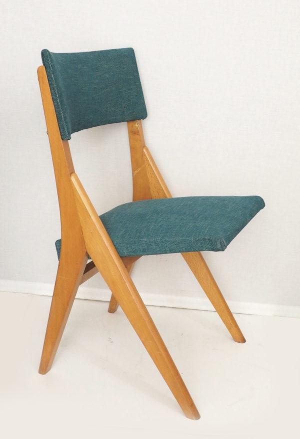chaise-pieds-compas-vert-annees60-