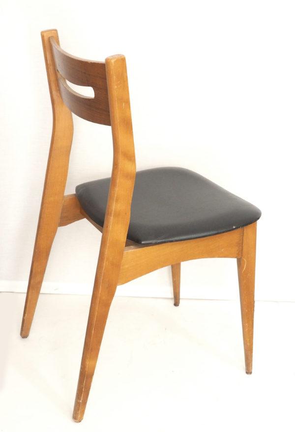 chaise-bois-skai-noir-annees60-