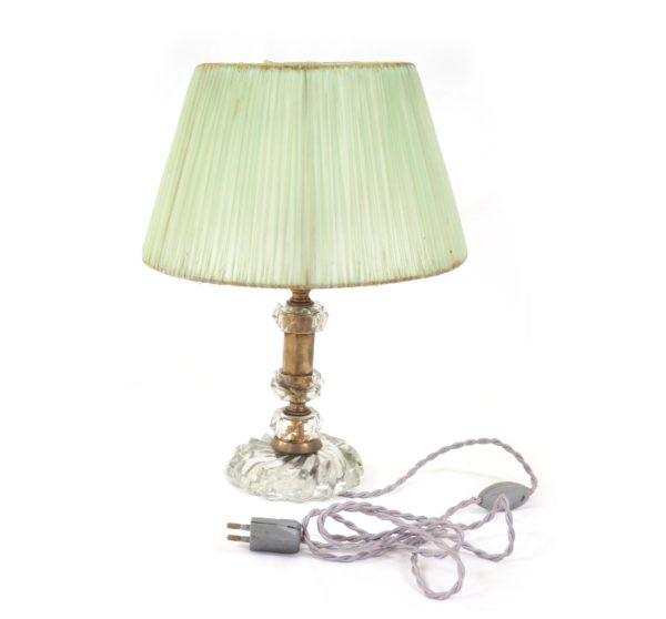 lampe-pied-crsital-laiton-ancienne
