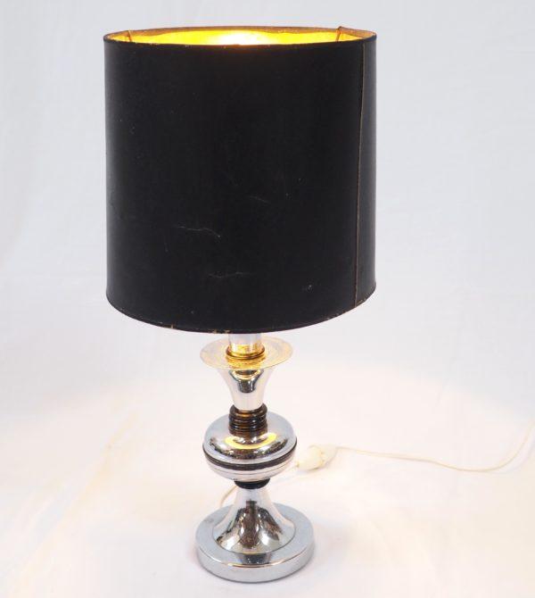 lampe-pied-chrome-noir-annees70-3