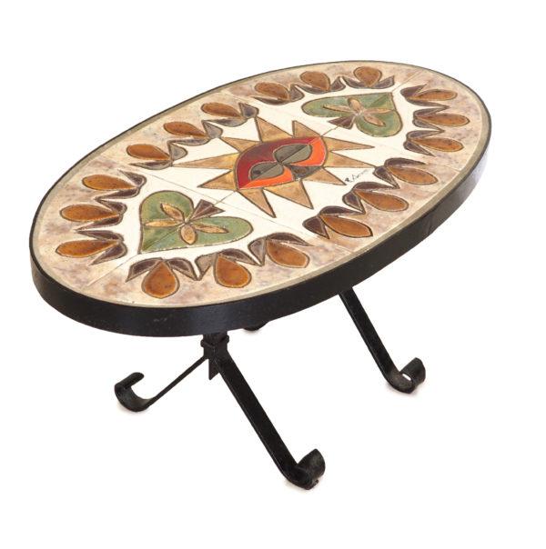 table-corroyez-decor-ceramique-fer-forge