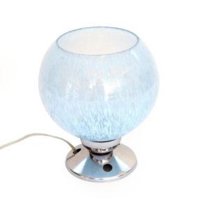 lampe clichy ancienne vintage bleue 1