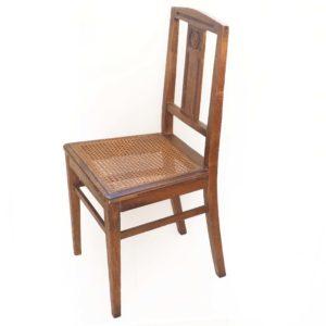 chaise cannee bois années 30 0