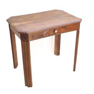 bureau art deco bois tiroir vintage 1